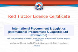 Red Tractor Certificate