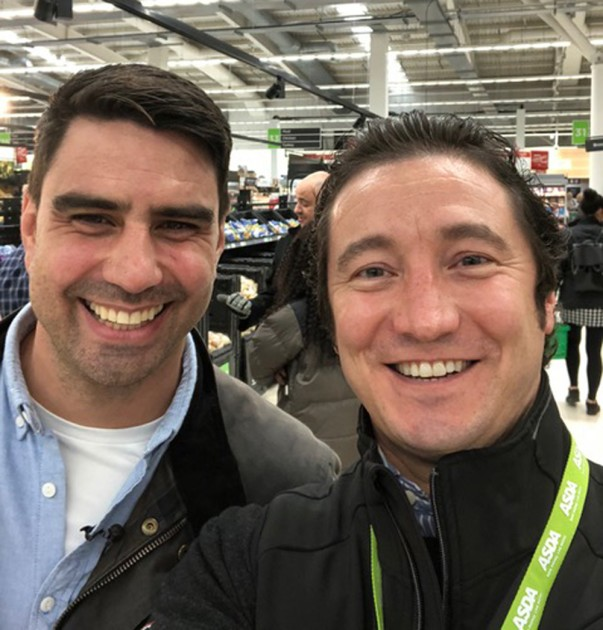 Gary with Chris Bavin from The One Show